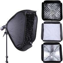 GODOX PRO 80x80 cm Softbox + Honeycomb Grid Für Blitzgerät Bowens/Elinchrom Montieren