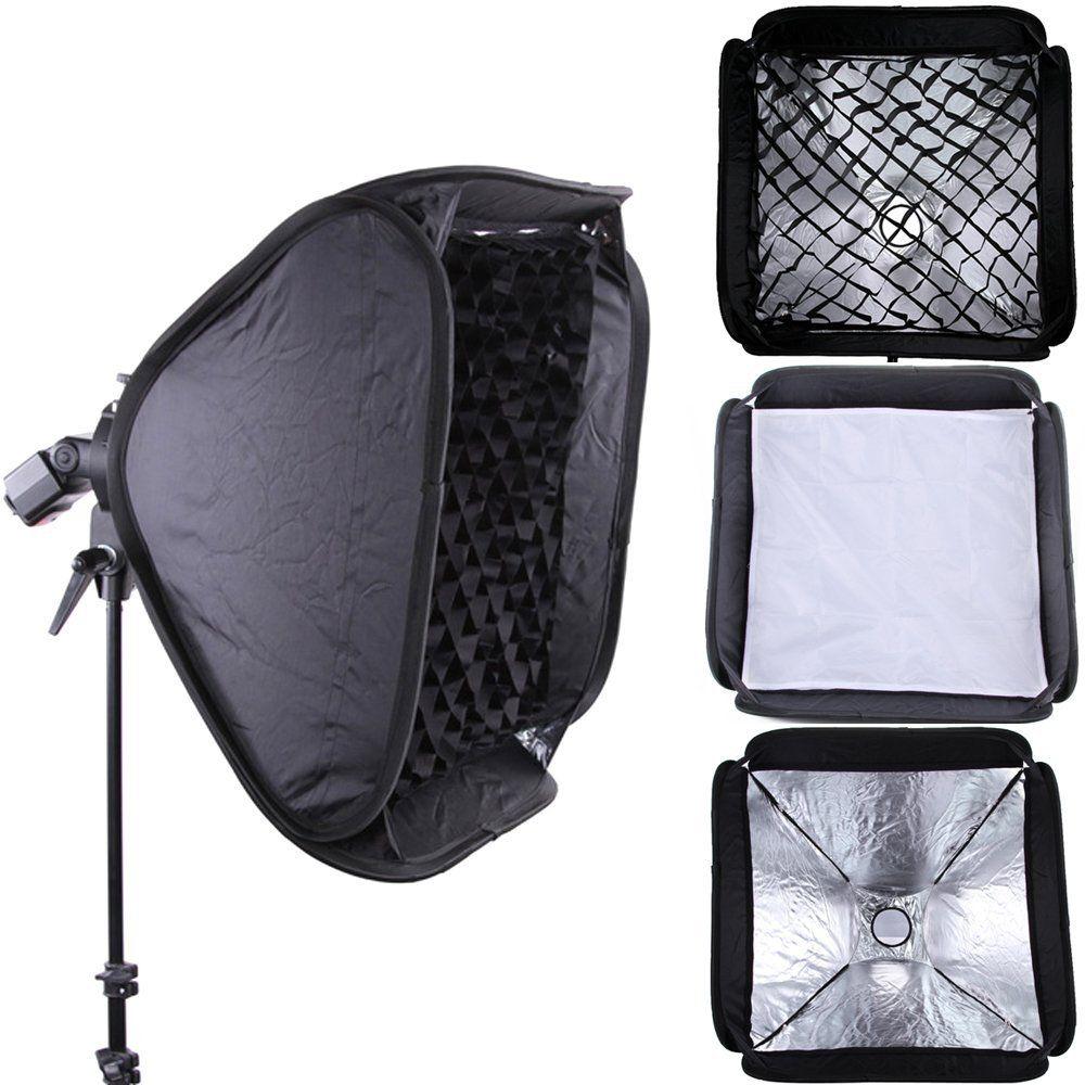 GODOX PRO 80x80cm Softbox +Honeycomb Grid For SpeedLight Flash Bowens/Elinchrom Mount