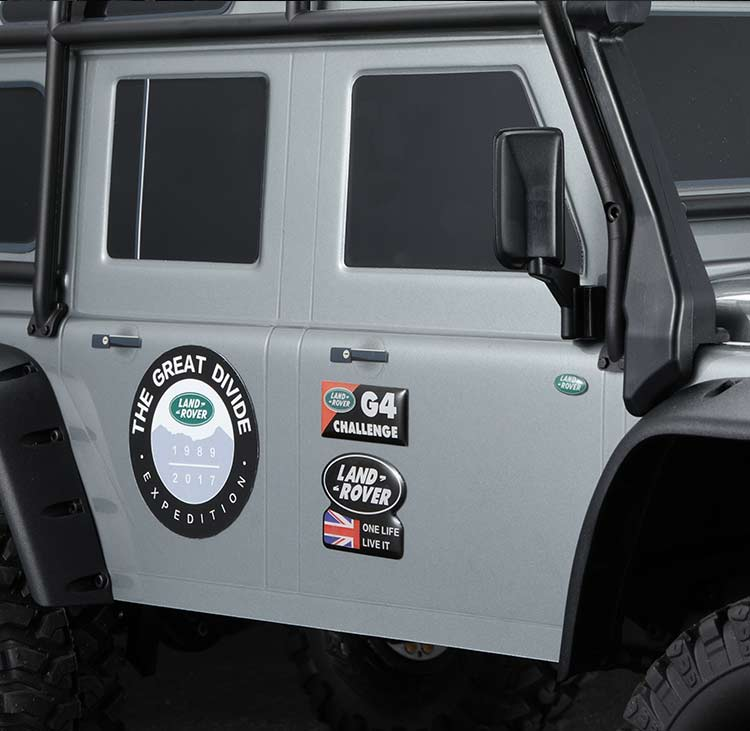 LAND ROVER & DEFENDER stereo crystal logo sticker for TRX4 RC4WD D90 D110