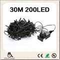 24V Safe Voltage Green Cable 30M 200 LED String lights LED Fairy Lights Ideal for Christmas Trees Xmas Party Wedding decoration