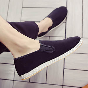 Fisherman-Shoes Female Flat Casual New Small Social Canvas One-Pedal Bean Fragrance