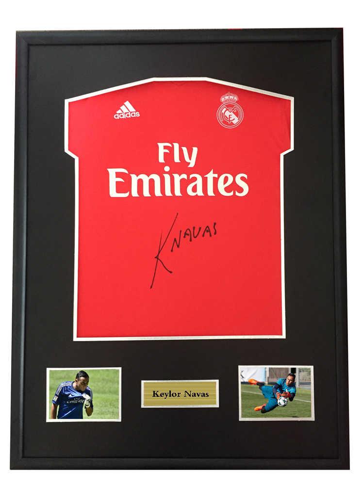 huge discount 51f5e 74734 Keylor Navas signed autographed soccer shirt jersey come ...