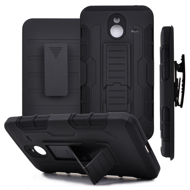 Shockproof Hard Case for Microsoft Lumia 640 XL 3 in 1Armor Case with Kickstand+ Belt Clip Holster Coque for Lumia 640XL 435 530