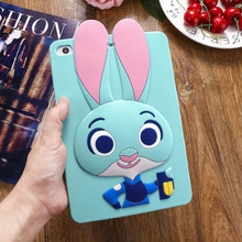 Tablet Case For ipad 2 3 4 9.7 inch Cute Cartoon Rabbit Kids Shockproof Silicone Rubber Back Cover For Apple ipad 2 3 4 Case 3d cartoon hello kitty soft silicone back cover case for apple ipad mini 1 2 3 7 9 tablet cases for kids gift