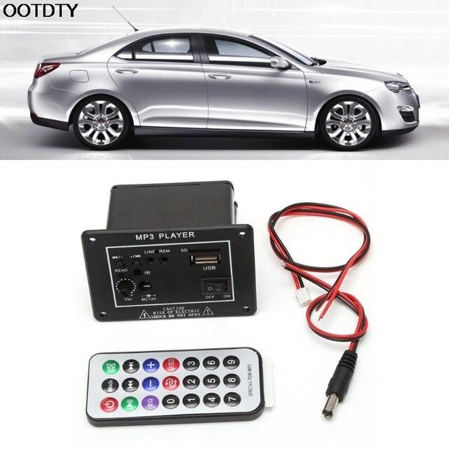 Cheap OOTDTY 20W High Power DC 12V Bluetooth Car Subwoofer Hi-Fi Amplifier Board TF USB+Remote