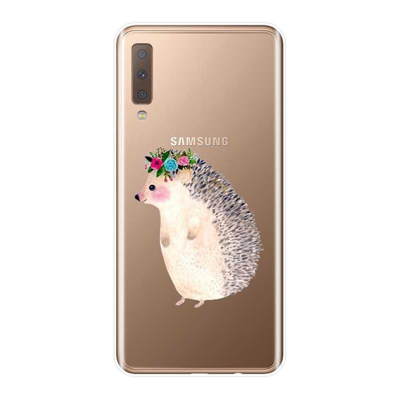 Kawaii Ежик чехол для телефона для samsung Galaxy A3 A5 A7 2016 2017 Мягкий силиконовый чехол-накладка для samsung A6 A8 плюс 2018 A5 A7 чехол