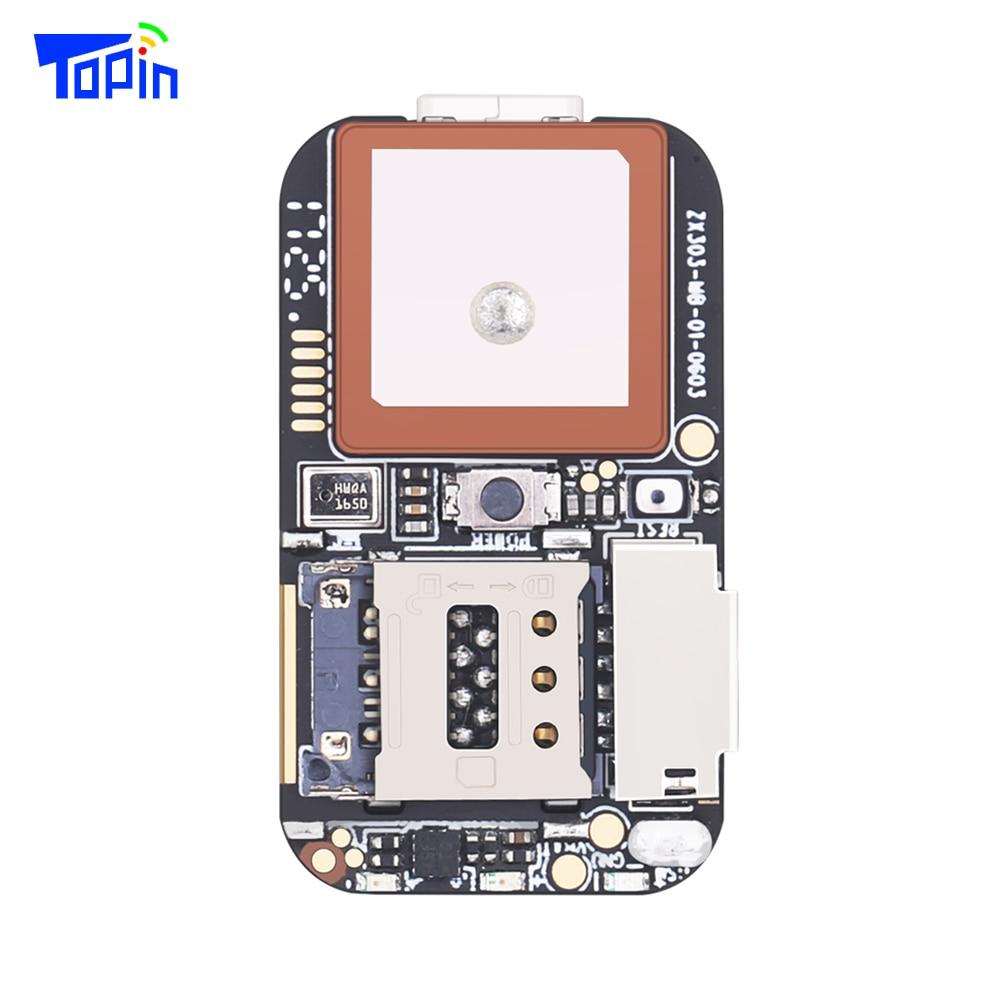 Topin ZX303 GPS Tracker PCB Module GSM GPS Wifi LBS Locator Voice Recorder Web APP Tracking