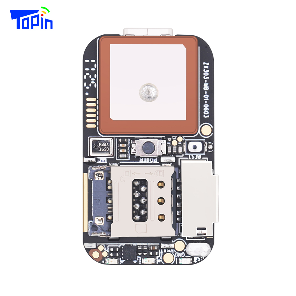 Topin ZX303 GPS Tracker PCB Module GSM GPS Wifi LBS Locator Voice Recorder Web APP Tracking TF Card 50pcs/lot without Cable Hot!