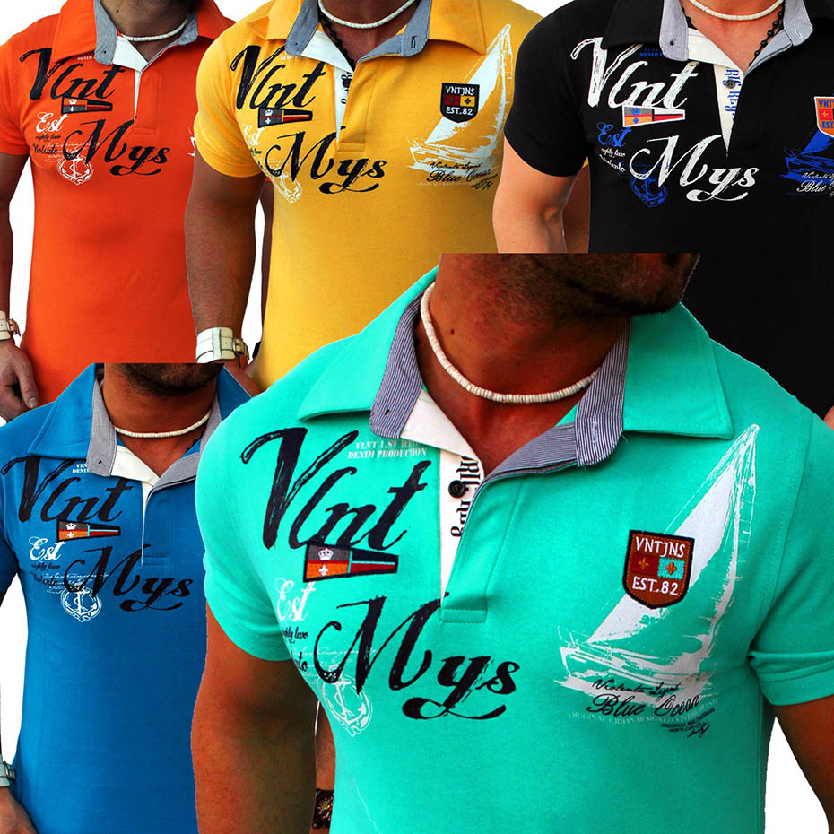 ZOGAA Men's   Polo   Shirts 2019 Brand New   Polo   Shirt High Quality Short-sleeve Letter Printed Casual Silm   Polo   Shirt Men Clothing