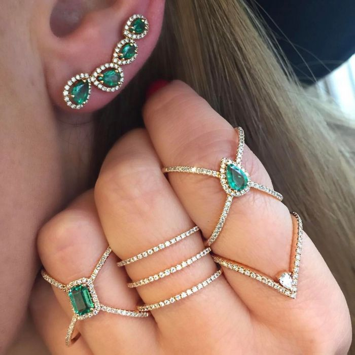Green blue cz X ring criss cross micro pave cz women full band 2018 new arrived fashion elegance women finger Jewelry refreshing laciness criss cross solid color women s blouse