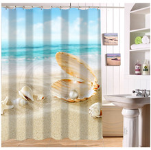 yy612f50 new custom summer beach starfish seashells t modern shower curtain bathroom waterproof ljw50