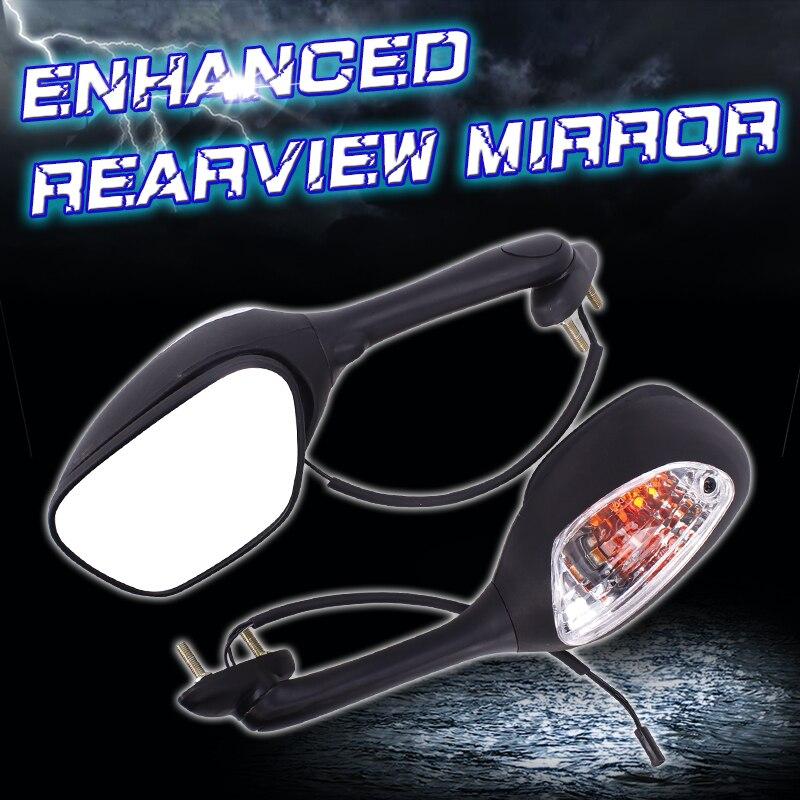 Mirrors Rear View Mirror Inverted with light For Suzuki GSXR600 GSXR750 GSXR1000 K5 K6 K7 K8 2005 2006 2007 2008 2009 2010 motorcycle rear view side rearview mirror signal light for suzuki gsxr600 gsxr750 2011 gsxr1000 gsxr 1000 2009 2010 2012 2017