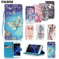 Phone Case for Samsung S4 S5 S6 Magnetic Leather Patterned Wallet Flip Stand Case for Samsung Galaxy S6edge Plus S7 S7edge