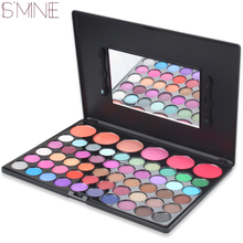 ISMINE 56 Color Makeup Set 50 Eyeshadow + 6 Blush Palette Pigment Eye Shadow Palettes  matte eye shadow palette with mirror