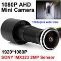 Sony imx323 2mp sensor 1080 p olho da porta buraco ahd olho olho olho olho olho olho olho olho olho olho olho olho olho mini câmera luz das estrelas 0.001lux 170 graus câmera de vigilância