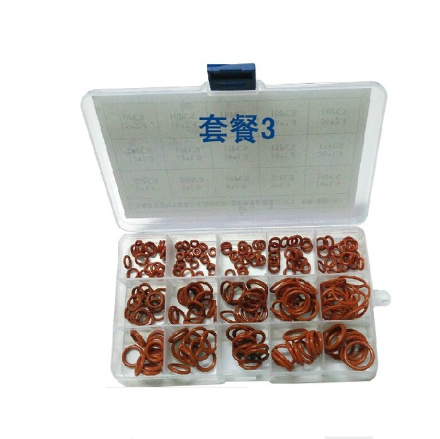 New 225 Piece 6mm to 20mm Silicone Rubber washers O Ring Kit O seal ...