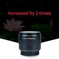 Viltrox C AF 2X Увеличение телеконвертер объектив Автофокус Крепление объектива для Canon DSLR камера EF объектив 70 200 мм 100 мм 135 мм