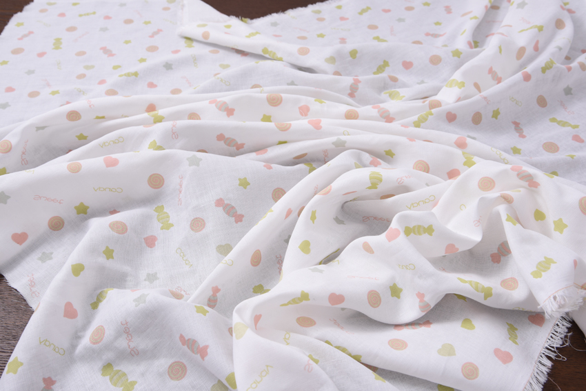 Hu Hu bu shop Japanese soft printed double-layer cotton powder cute candy 1.5 meters wide and 1 meter wide in 35 yuan