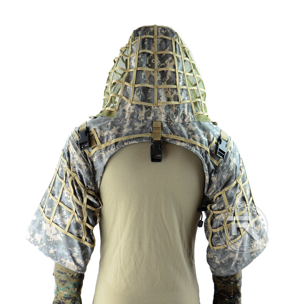 TTGTACTICAL Sniper Ghillie capuche Camouflage Ghillie costume Base tactique Sniper manteau Viper hottes, chasse Ghillie Base - 5