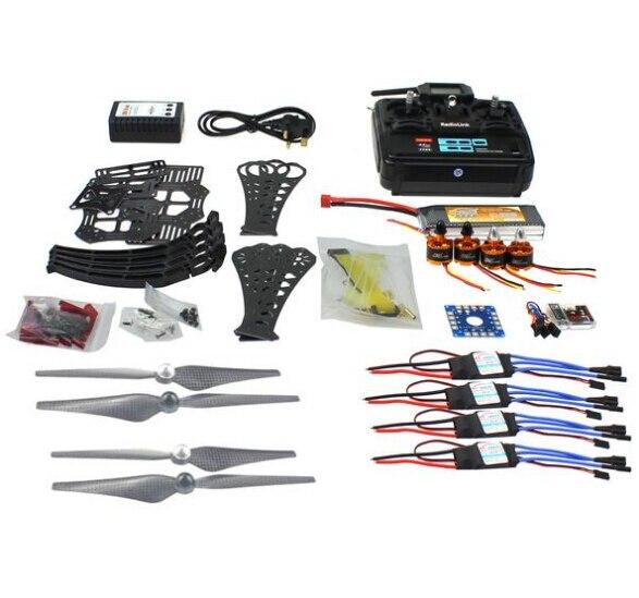DIY RC Drone Quadrocopter RTF X4M360L Frame Kit QQ Super T6EHP-E TX RX F14892-G diy rc drone quadrocopter rtf x4m360l frame kit qq super radiolink at9 f14892 h