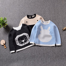 Ins cartoon bunny bear kids girl sweaters pullover sweater baby knit sweater boy fall sweater 1-5T striped sweater for boys 2018 brand design fall girl pullover baby boy casual sweater infant knit sweater children clothes