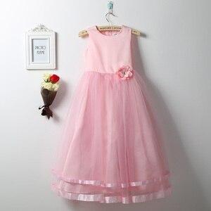 Image 5 - Iiniim Váy Đầm Công Chúa Cho Bé Gái Không Tay Xếp Lớp Voan Đầm Hoa Bé Gái Cuộc Thi Cưới Cô Dâu Sinh Nhật Đầm