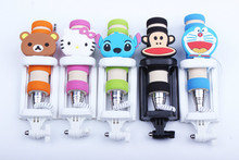2016new Mini Size Monopod Cute Cartoon Foldable Wired Selfie Stick for iPhone LG Samsung Xiaomi Huawei Android Tripod for Phones
