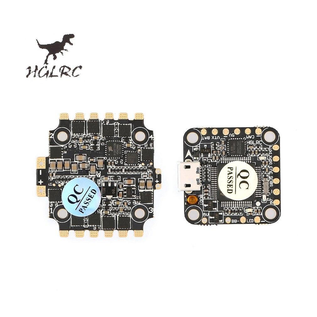 Contrôleur de vol tour HGLRC XJB F440 F428 F438 F4 Betaflight OSD 4in1 40A Blheli_S ESC pour Drone quadrirotor de course RC 65-50mm