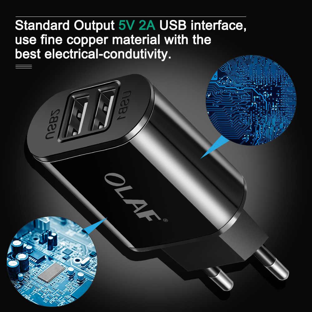 2 Usb Charger 5 V 2A Uni Eropa Pengisian Cepat Dinding Charger Ponsel Portable Charge Usb Kabel Micro USB untuk Samsung xiaomi Iphone Huawei