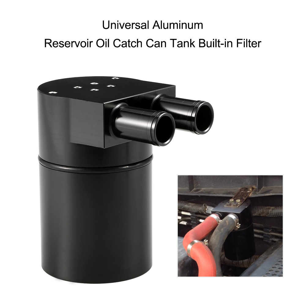 Universal Reservoir Oil Catch Can Tank High Performance Black Aluminum Alloy Reservior with Built-in Filter for BMW N54 335 coolant overflow reservior tank bottle catch can 3 x 10 32oz stainless steel
