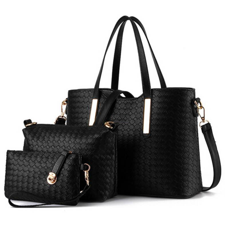 famous designer luxury brands women bag set good quality medium women handbag set 2017 3pcs/set new women shoulder bag QT-117