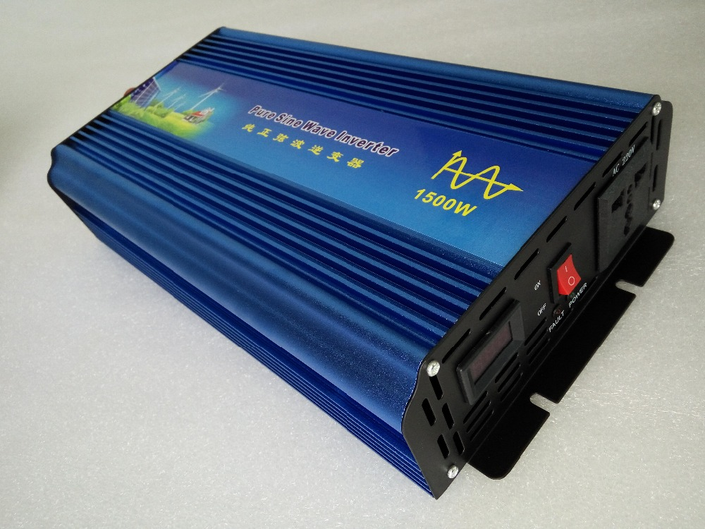 цена на Pure sine wave inverter 1500W 110/220V 12/24VDC, CE certificate, PV Solar Inverter, Power inverter, Car Inverter Converter