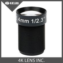 4K LENS 5.4MM Lens 1/2.3 Inch 10MP IR 60D HFOV NON Distortion for Gopro Xiaomi Yi SJCAM Camera DJI Phantom Drones Hot