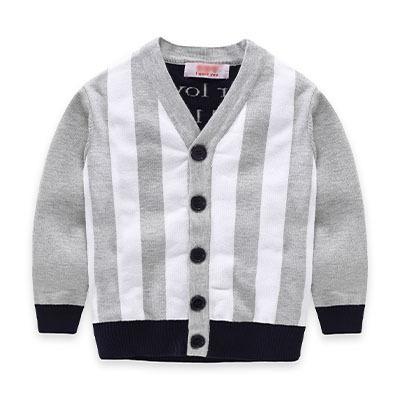 2016 Queda de moda de luxo da marca camisola das crianças meninos e meninas camisola de algodão jacquard duplo Com Decote Em V casaco cardigan camisola