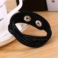 2015 Fashion 6 Layer Leather Bracelet!Bracelets For Women,bracelets & bangles Factory Discount Prices,19 Color Choices pulseiras