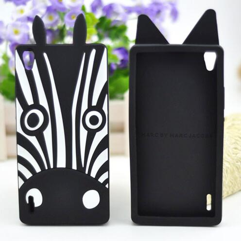 2270192fabc Fundas Para Huawei P7 Case,New Fashion Zebra Dog 3D Silicone Back Cover  Case Carcasa Huawei Ascend P7 Phone Cover Free shipping