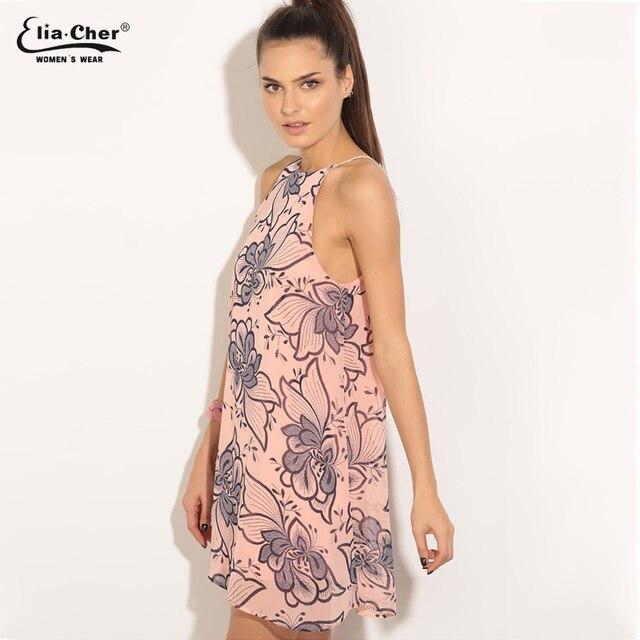 Art Inspired Shift Dress Pink Women Summer Eliacher Brand Plus Size Casual Clothing Dresses Vestidos