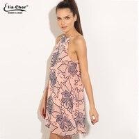 Art Inspired Shift Dress Pink Women 2016 Summer Eliacher Brand Plus Size Casual Women Clothing Dresses