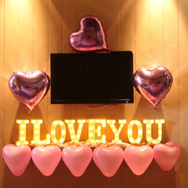 Luminous LED Letter Night Light English Alphabet Number Lamp Wedding Party Decoration Christmas Home Decoration Accessories 5