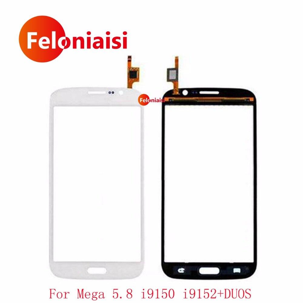 5.8 Pour Samsung Galaxy Mega 5.8 GT-i9150 i9150 GT-i9152 i9152 Écran Tactile Digitizer Capteur Externe Avant Lentille En Verre Panneau