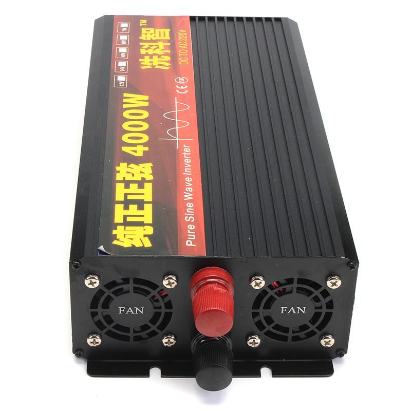 Inverter 12V 220V 2000/3000/4000W Voltage transformer Pure Sine Wave Power Inverter DC12V to AC 220V Converter + 2 LED Display 20