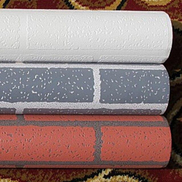 Beibehang Papier Peint Brique Mur Beige Rouge Gris Clair Fond 3d