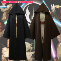 Men Star Wars Jedi Cos Play Adult Hooded Robe Cloak