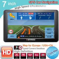 Nowy 7 cal HD GPS nawigacja samochodowa 800MHZ FM/8GB/DDR3 2020 i aktualną pogodę lub przeczytaj ostatnie dla rosji/białorusi europa/USA + kanada do ciężarówek nawigacji satelitarnej Camper przyczepa kempingowa