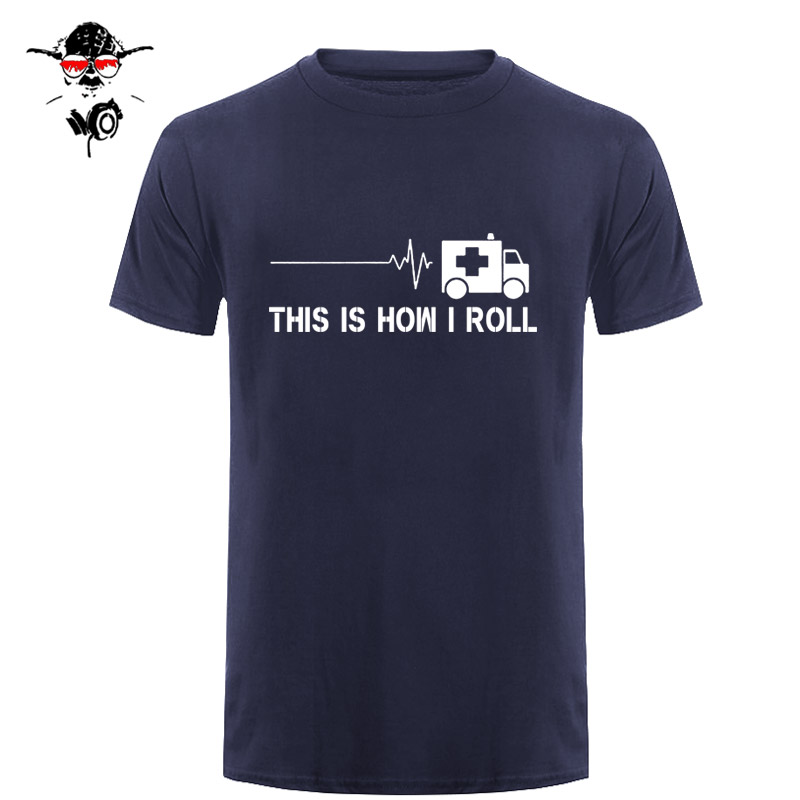 Summer THIS IS HOW I ROLL Paramedic Ambulance Style T Shirt Emergency Medical Technician Print 20 Sided Dice T Shirts