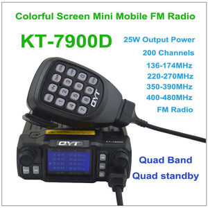Image 3 - QYT מיני רדיו KT 7900D 25W Quad Band 136 174/220 260/350 390/400 480MHZ KT7900D wokï טוקי