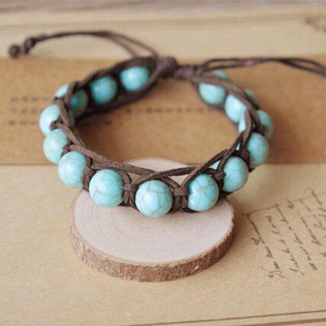 Handmade Bohemian Bracelets For Women Natural Stone  Charm  Rope Chain DIY Tassel Bracelets Men Jewelry Gifts Pulseira