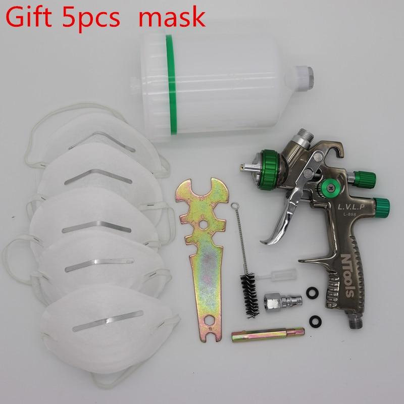 professional LVLP spray gun airbrush LVLP Gravity feed paint gun 1 3mm nozzle stainless steel nozzle