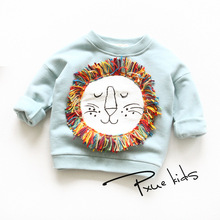 Retail 2017 new winter autumn children's sweater,boys and girls Fleece Tshirts Sweaters jacket ,kids fashion Cartoon coat