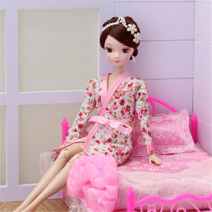 1 Set Clothes For Barbie Dolls Robe Shorts For Ken BJD Doll Accessories Kids Gift Lace Sexy Bedroom Pajamas Robe Nighty Bathrobe(China)